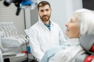 woman visiting cosmetic dentist in Glastonbury